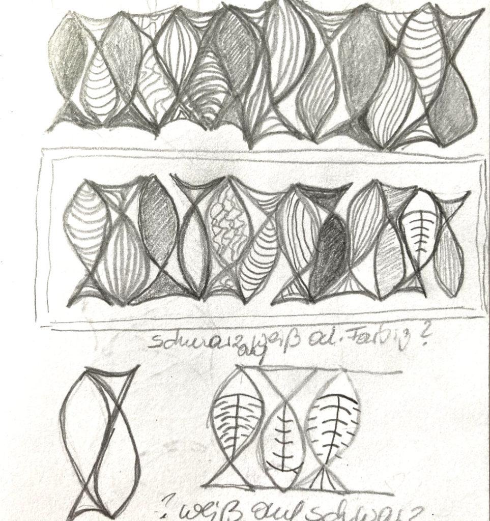 Skizze  für 12 Fische